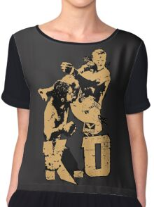 fighter deadly punch KO Chiffon Top