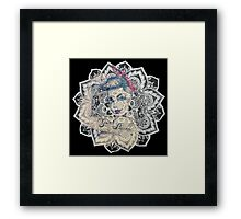GIrl Power Mandala Design Framed Print