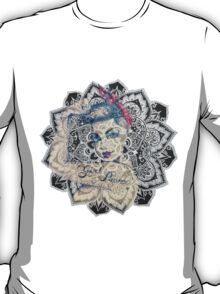 GIrl Power Mandala Design T-Shirt
