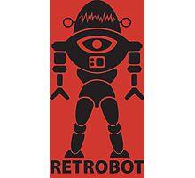 RETROBOT (black) Photographic Print
