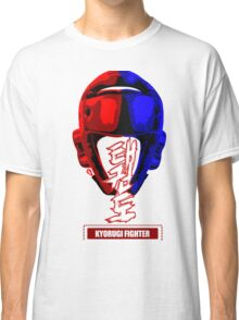 taekwondo kyorugi fighter korean martial art kick and punch Classic T-Shirt