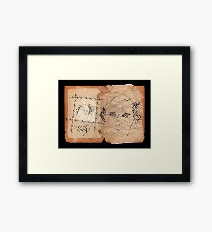 Unity Notebook. Framed Print