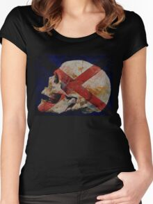 Skull with Cross Women's Fitted Scoop T-Shirt