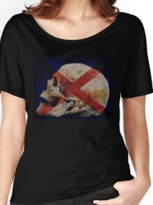 Skull with Cross Women's Relaxed Fit T-Shirt