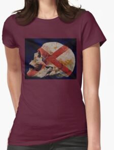 Skull with Cross Womens Fitted T-Shirt