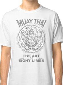 muay thai garuda sacred spirit of thailand the art of eight limbs Classic T-Shirt