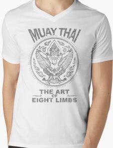 muay thai garuda sacred spirit of thailand the art of eight limbs Mens V-Neck T-Shirt