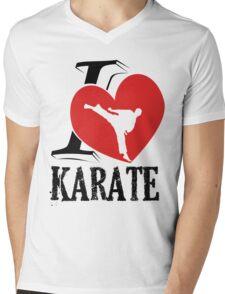i love karate japanese martial art Mens V-Neck T-Shirt
