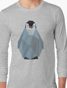 Cute Polygon Baby Penguin Long Sleeve T-Shirt