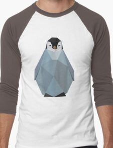Cute Polygon Baby Penguin Men's Baseball ¾ T-Shirt