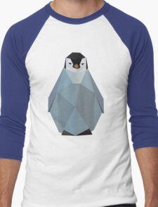 Cute Polygon Baby Penguin Men's Baseball ¾ T-Shirt