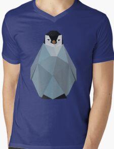 Cute Polygon Baby Penguin Mens V-Neck T-Shirt