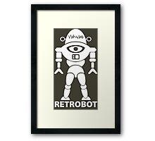 RETROBOT (white) Framed Print