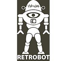 RETROBOT (white) Photographic Print
