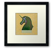 Topiary Horse with Horn Framed Print