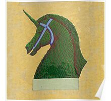 Topiary Horse with Horn Poster