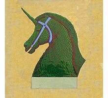 Topiary Horse with Horn Photographic Print