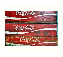 Red Wooden Crates Art Print