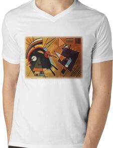 Kandinsky - Black and Violet Mens V-Neck T-Shirt