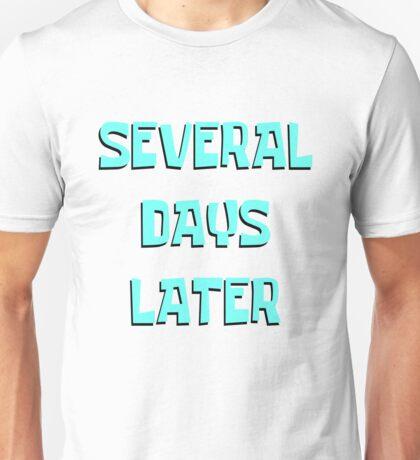 Spongebob Squarepants Several Days Later Timecard Unisex T-Shirt