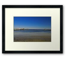 Bokeelia Piers Framed Print
