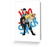 Kirk and Spock Greeting Card