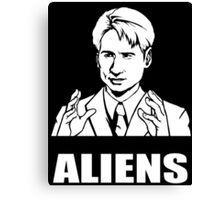 X Files Mulder Ancient Aliens  Canvas Print