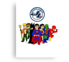 JLA Characters Canvas Print