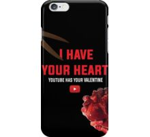 Youtube Cut My Heart iPhone Case/Skin