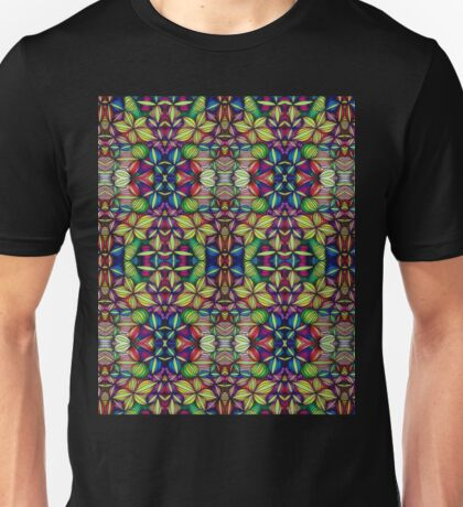 Stained Glass-like Op Art Unisex T-Shirt