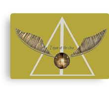 Harry Potter Snitch Hufflepuff Canvas Print