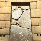 Inca Doorway Opening, Machu Picchu, Peru  by Roupen  Baker