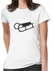 Sled sleigh Womens Fitted T-Shirt