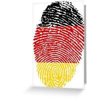 Bundesrepublik Deutschland (Fingerprint) Greeting Card