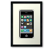 Pixel Iphone Framed Print