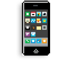 Pixel Iphone Canvas Print