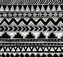 Black and White Aztec Pattern ~hella rad~ by Stacey Muir
