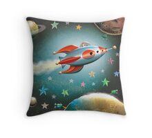 Zelda in Space Throw Pillow