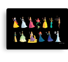 Origami - The Princesses Canvas Print