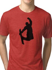 Snowboarder jump Tri-blend T-Shirt