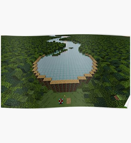 Yerka's Bible Dam in Minecraft Poster