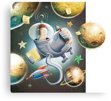 Zelda counting planets Canvas Print
