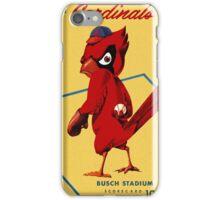St. Louis Cardinals 1956 Scorecard iPhone Case/Skin