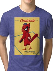 St. Louis Cardinals 1956 Scorecard Tri-blend T-Shirt