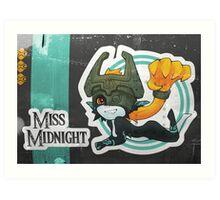 Miss Midnight Art Print