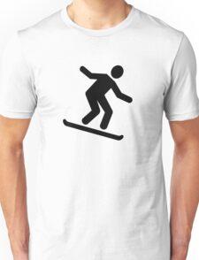 Downhill snowboarding logo Unisex T-Shirt