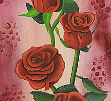 I Love Red Roses by Jenny  Dyer
