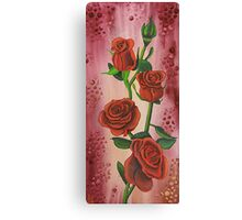 I Love Red Roses Canvas Print