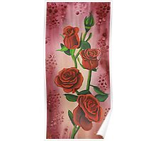 I Love Red Roses Poster