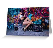 Boombox Girl Greeting Card